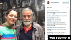 چکامه چمن ماه یکی از بازیگران مهاجر در کنار بهروز وثوقی، بازیگر ساکن آمریکا