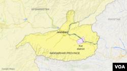 아프가니스탄 낭가하르주의 코트 지역 지도