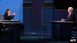 美国两大政党副总统候选人2020年10月7日晚在犹他州盐湖城首次直面辩论。