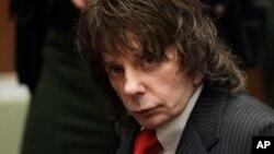 Phil Spector no seu julgamento em 2009