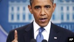 奥巴马总统7月11日在白宫的记者会上
