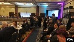 امریکی ریاست فلوریڈا کے شہر آرلینڈو میں ایف اے ٹی ایف کے 16 سے 21 جون تک جاری رہنے والی کانفرنس کے آخری سیشن کا ایک منظر۔ 21 جون 2019