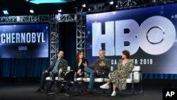 """ჩერნობილზე გადაღებული """"ეიჩ-ბი-ოს"""" (HBO) ტელესერიალის განხილვა პასადენაში, კალიფორნიის შტატი"""