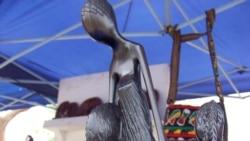 Uma artesã angolana