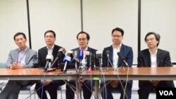 多名專業議政立法會議員代表民主300+選委宣佈,98%成員選委將投票給曾俊華(美國之音湯惠芸 香港)