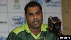 پاکستان کرکٹ ٹیم کے ہیڈ کوچ وقار یونس (فائل فوٹو )