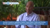 VOA60 Africa- Longtime opposition leader Cellou Dalein Diallo calls on Guinean junta to schedule transitional elections