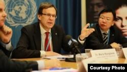 Direktur program Tuberkulosis Global WHO, Mario Raviglione, berbicara di Jenewa, Swiss (foto: ilustrasi).