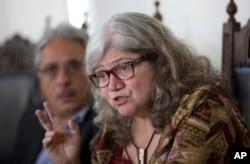 Myrna Bonaldo, Chief of Molecular Biology Laboratory of Brazil's Oswaldo Cruz Foundation, Brazil's premier state-run research institute for tropical diseases, speaks at a press conference in Rio de Janeiro, Brazil, Friday, Feb. 5, 2016.