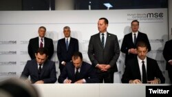 S Ambassador Richard Grenell brokered a railway and highway agreements between Serbia and Kosovo. Munich. February 14, 2020.