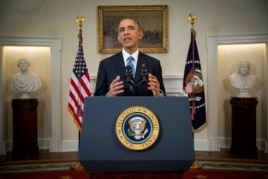 President Barack Obama announces a major shift in U.S-Cuba relations, Dec. 17, 2014.