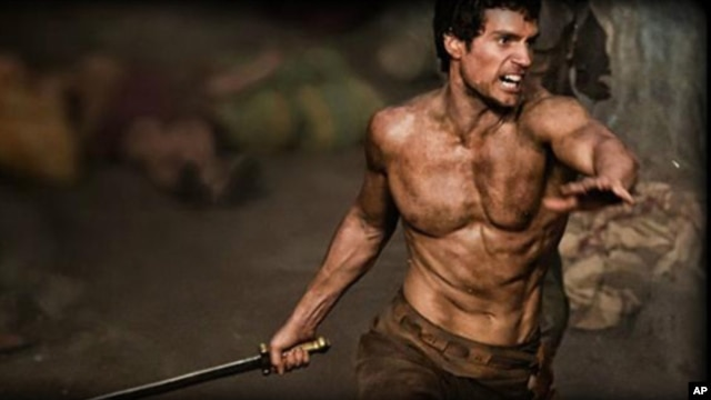 Actor Henry Cavill portrays Greek hero Theseus in 'Immortals.'