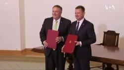 蓬佩奧波蘭行簽雙邊防務合作協議