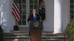 特朗普總統宣佈國家緊急狀態 在美墨邊界建隔離牆 (粵語)