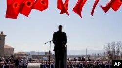 Presidenti i Kosovës, Hashim Thaçi, gjatë fjalimit me rastin e 20-vjetorit të ndërhyrjes së NATO-s