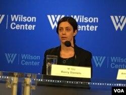 美國外交政策全國委員會亞太安全項目副主任丹尼爾斯 (美國之音鍾辰芳拍攝)