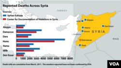 Syria Death Map - updated September 17, 2012