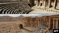 ဆီးရီးယားႏုိင္ငံရဲ႕ ေရွးေဟာင္းၿမိဳ႕ျဖစ္တဲ့ Palmyra ၿမိဳက သမုိင္း၀င္အေဆာက္အအုံေတြ။