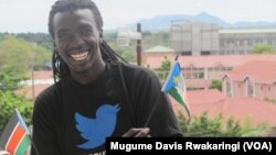 Manasseh Mathiang wants South Sudanese to post pictures of themselves waving the nation's flag on Facebook and Twitter as part of the 'Wave South Sudan' peace campaign.