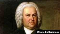 Johann Sebastian Bach in a portrait by Elias Gottlob Haussmann (Wikimedia Commons)