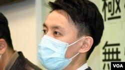 香港民主黨主席羅健熙表示,港府動用國安法顛覆中國國家政權罪作出拘捕行動, 是政治打壓敵對陣營,民主黨對此感到憤怒。(美國之音 湯惠芸拍攝)