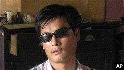 中國著名盲人維權律師陳光城(資料照)