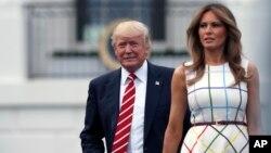 Prezident Tramp va rafiqasi Melaniya