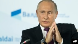 Владимир Путин на заседании «Валдайского клуба»