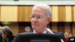 미국의 조세프 맥마너스 국제원자력기구 대표가 6일 오스트리아 빈에서 열린 국제원자력기구 이사회에 참석했다.