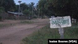 Entrada da sede de Massango