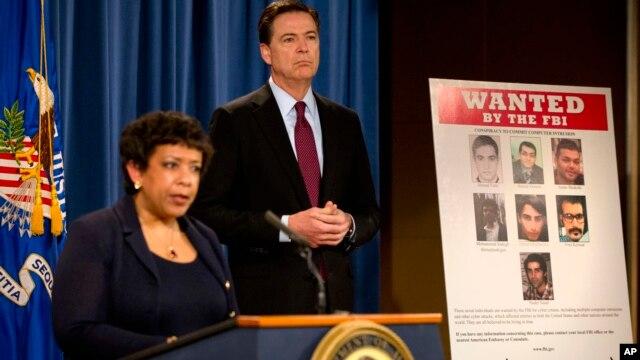 Генпрокурор США Лоретта Линч и директор ФБР Джеймс Коми. Вашингтон. 24 марта 2016 г.
