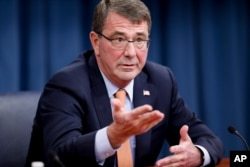 FILE - U.S. Defense Secretary Ashton Carter