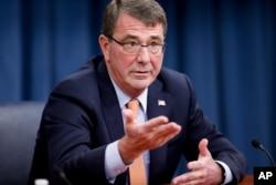 FILE - U.S. Defense Secretary Ashton Carter