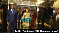 Le président Félix Tshisekedi et son épouse à Windhoek, en Namibie, le 27 février 2019. (Twitter/Présidence RDC)
