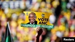 Wafuasi wa ANC huko Johannesburg, Mei 5, 2019.