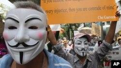 태국 시위대 이색 가면...호주, 악어 증가