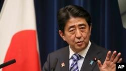 PM Jepang Shinzo Abe di Tokyo, 14 Desember 2013 (Foto: dok).