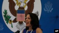 La embajadora de EE.UU. en Uruguay, Kelly Keiderling, abogó por la defensa de los DD.HH. en Venezuela.