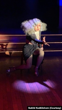 """Miss LaBella Mafia,"" or Suklid Kedklinhom, performs drag shows regularly in Washington, D.C."