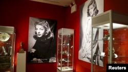 Pieces from 'The Lauren Bacall Collection' are seen during a press preview at Bonhams' Madison Avenue gallery in New York, March 24, 2015.
