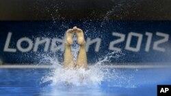 Prácticas en el Centro Acuático del Olympic Park, en Londres. El sábado se reparten las primeras 12 medallas.