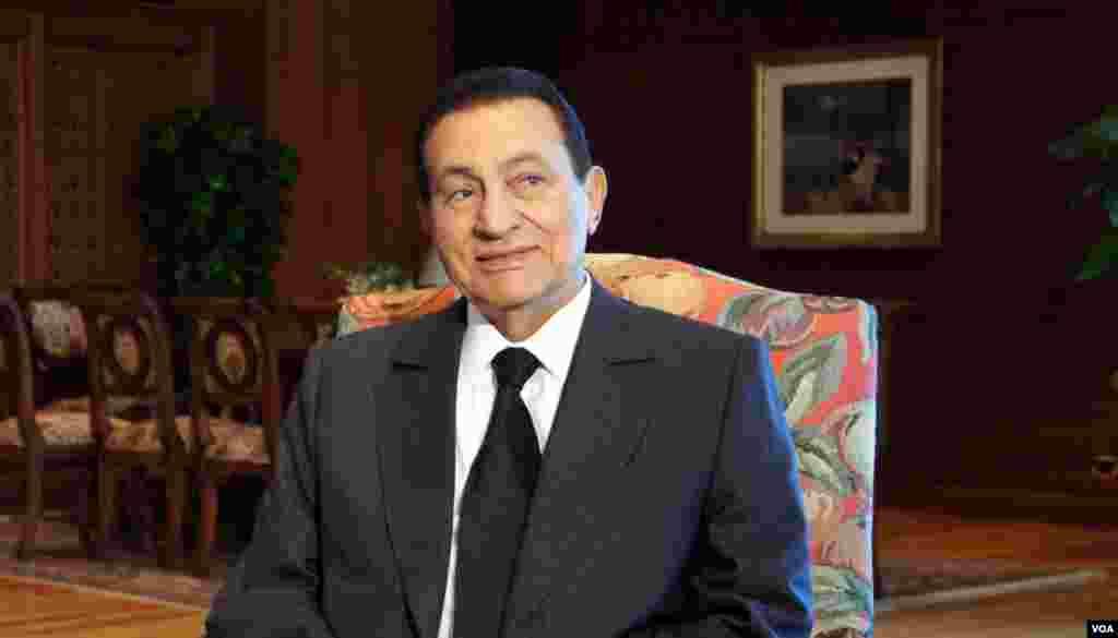 Presiden Mesir Hosni Mubarak beberapa bulan sebelum diturunkan, September 2010.