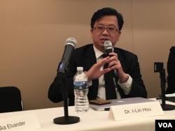台南成功大学医院国际医疗中心主任许以霖医师 (美国之音钟辰芳拍摄)