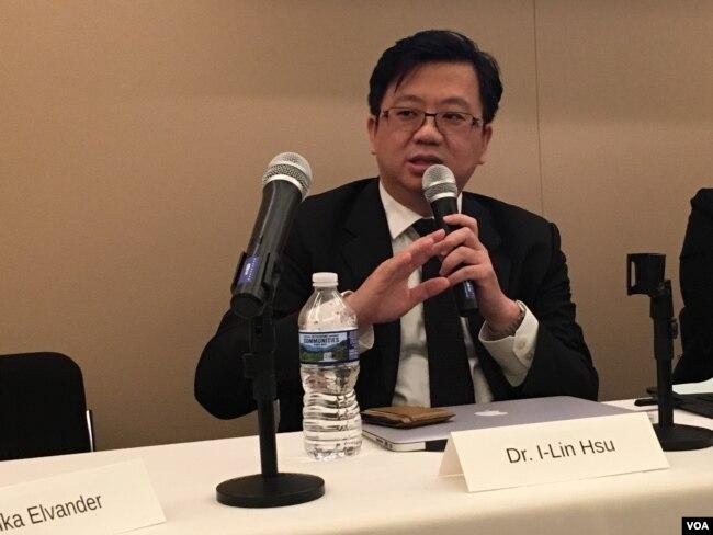 台南成功大學醫院國際醫療中心主任許以霖醫師(美國之音鐘辰芳拍攝)