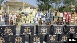 برخورد پلیس با قاچاق مشروبات الکلی در ایران