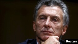FILE - Argentina's president-elect Mauricio Macri backs off on threats to try to oust Venezuela from South America's Mercosur trade bloc.