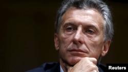 FILE - Argentina's president-elect Mauricio Macri