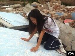 2012年7月13号从丰台拘留所放出来的李焕君发现家没了,失声痛哭