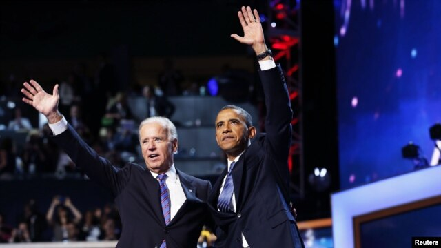 Prezident Barak Obama, vitse-prezident Jo Bayden