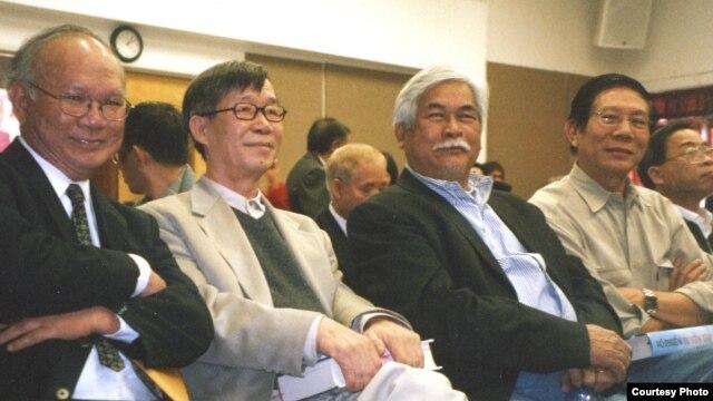Từ trái: Nguyễn Mộng Giác, Trần Dạ Từ, Thảo Trường và Nguyễn Xuân Hoàng.